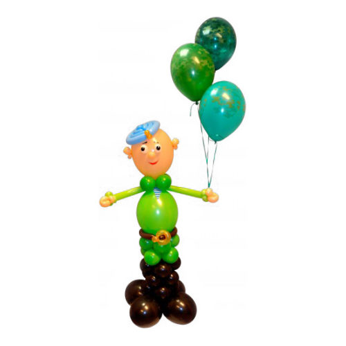 Солдат с шариками из воздушных шаров