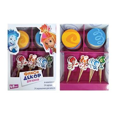 Декор-комплект для кексов Фиксики 24 шт