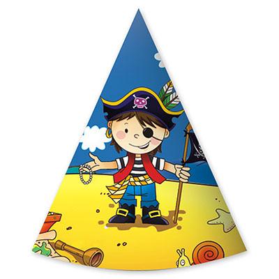 Колпаки Маленький пират 6 штук
