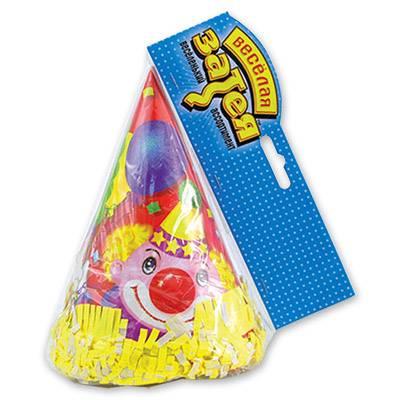 Колпак с бахромой Клоун с шарами 6 шт