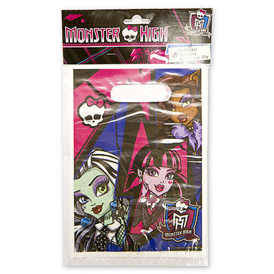 Пакетики для сувениров 16х22 см Monster High 8 шт