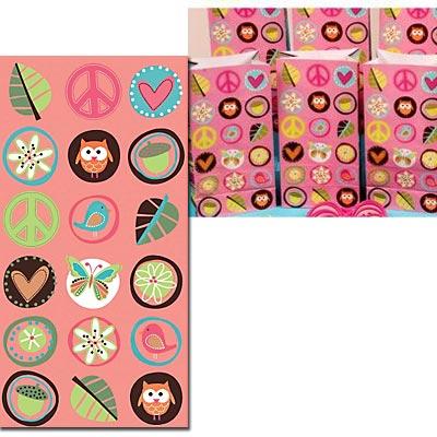 Пакеты бумажные для сувениров Хиппи 8 штук