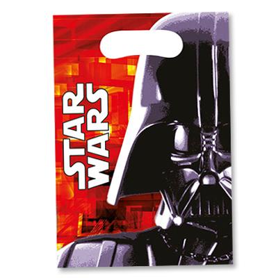 Пакеты для сувениров 16х22 см Звездные войны 8 шт