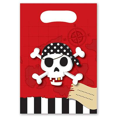 Пакеты для сувениров 16х22 см Пираты 8 шт
