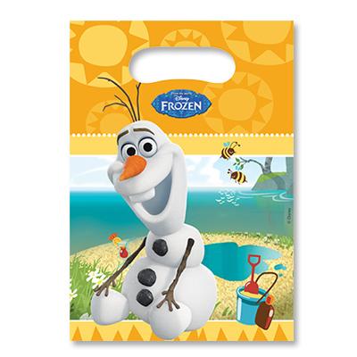 Пакеты для сувениров 16х22 см Frozen Олаф 6 штук