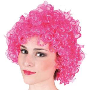 Парик Кудряшка розовый