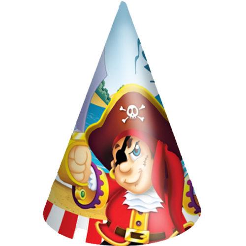 Праздничные колпачки Веселый Пират 6 шт