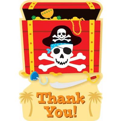 Приглашение Сундук Пиратов 8 шт