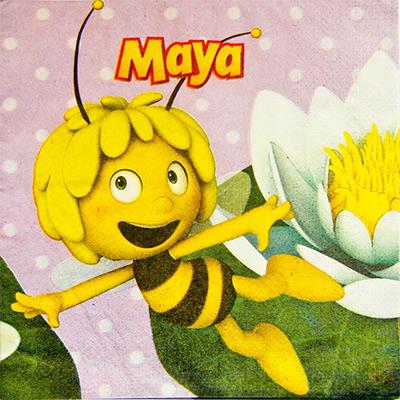 Салфетка 33 см Пчелка Майя 16 шт
