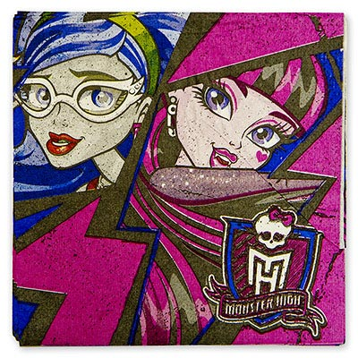 Салфетка 33 см Monster High 12 шт