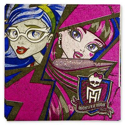Салфетка 33 см Monster High 12 шт