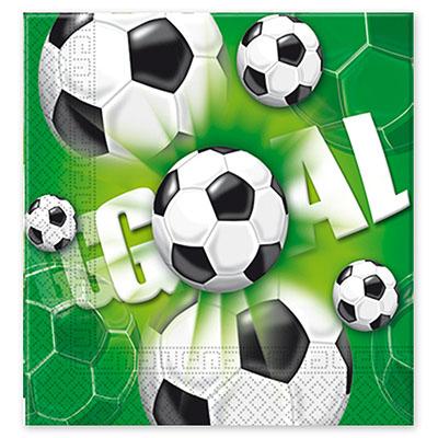 Салфетки 33 см Футбол зеленый 20 шт