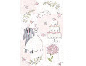 Скатерть бумажная Свадьба Romantic 140х260 см