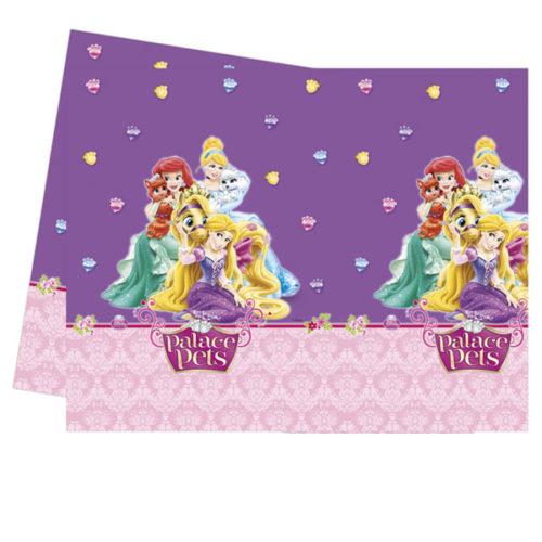 Скатерть полиэтиленовая Принцессы Диснея с питомцами 120смX180см