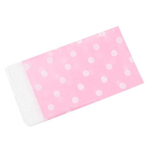 Скатерть полиэтиленовая Розовые точки 180смX180см