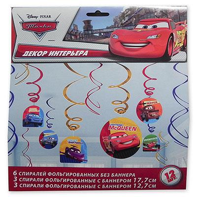Спираль 46-60 см Disney Тачки 12 штук
