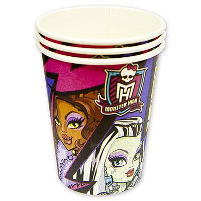 Стакан бумажный 250 мл Monster High 8 шт