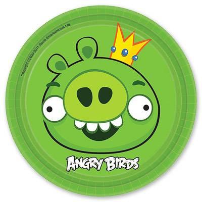 Тарелка бумажная 17 см Angry Birds 6 шт