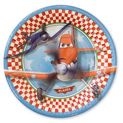 Тарелка бумажная 20 см Самолеты 8 шт