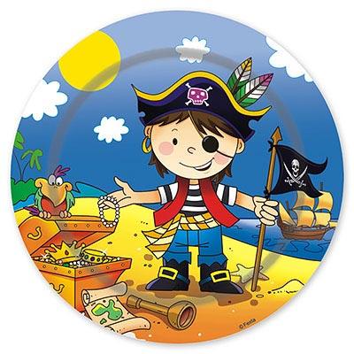 Тарелка бумажная 23 см Маленький пират 6 шт