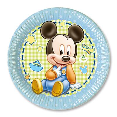 Тарелка бумажная 23 см Малыш Микки 8 шт