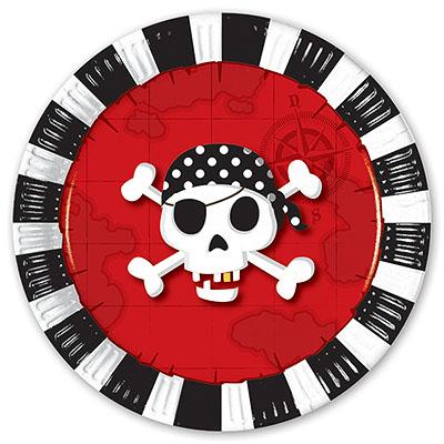 Тарелка бумажная 23 см Пираты 8 шт-1