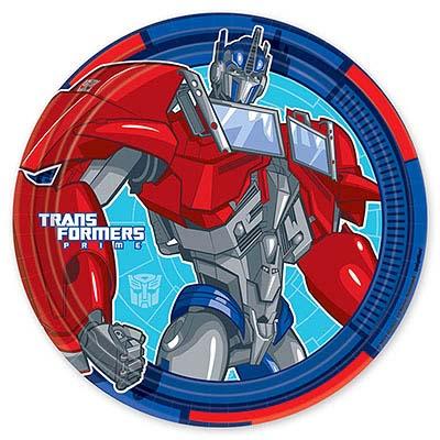 Тарелка бумажная 23 см Трансформеры 8 шт