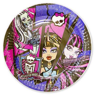 Тарелка бумажная 23 см Monster High 8 шт