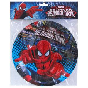 Тарелки бумажные 23 см Человек-Паук 6 штук