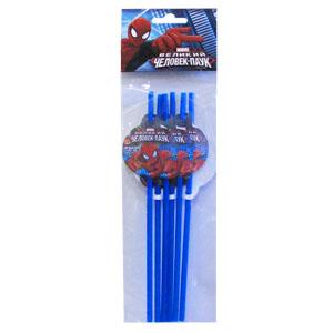 Трубочки для коктейля Человек-Паук 6 шт