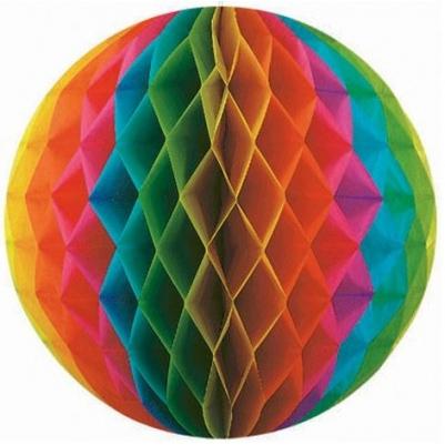 Шар Бумажный 30 см радуга