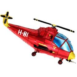 Шар 36 см Мини-фигура Вертолет красный