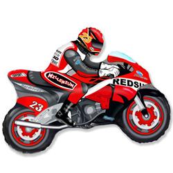 Шар 36 см Мини-фигура Мотоцикл Красный