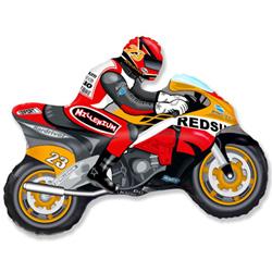 Шар 36 см Мини-фигура Мотоцикл Оранжевый