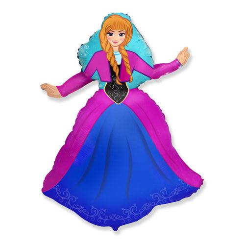 Шар 36 см Мини-фигура Холодное сердце Анна