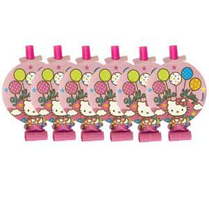 Язычки-гудки с карточкой Hello Kitty 8 штук
