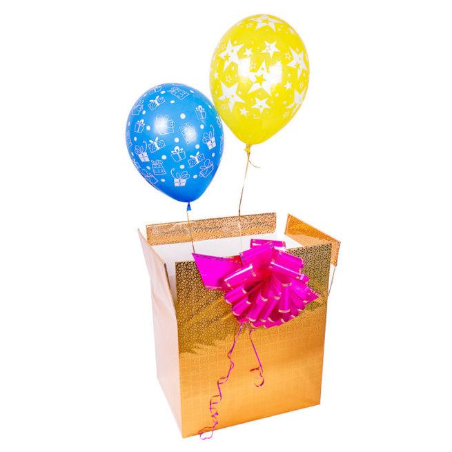 Коробка сюрприз с 2 шарами