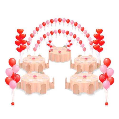 Оформление свадьбы шарами Комплект С Любовью