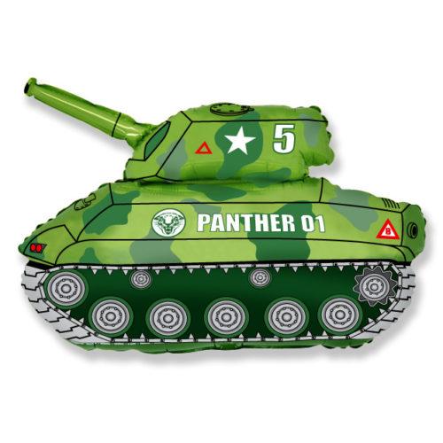 Шар 36 см Мини-фигура Танк Зеленый