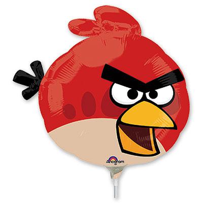 Шар 35 см Мини-фигура Angry Birds Красная-Птица