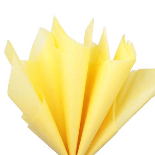 Бумага тишью 76 х 50 см желтая 10 листов