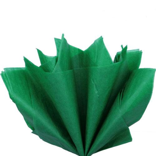 Бумага тишью 76 х 50 см зеленая 10 листов