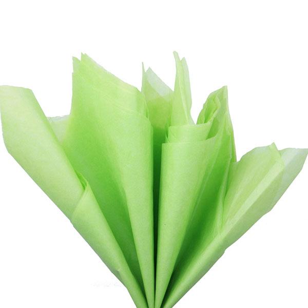 Бумага тишью 76 х 50 см салатовая 10 листов