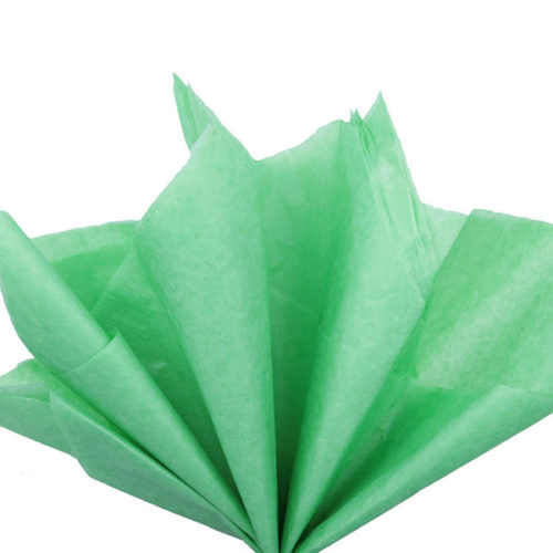 Бумага тишью 76 х 50 см светло-зеленая 10 листов