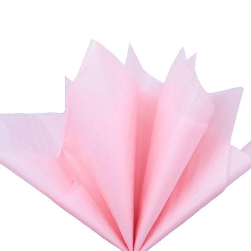 Бумага тишью 76 х 50 см светло-розовая 10 листов