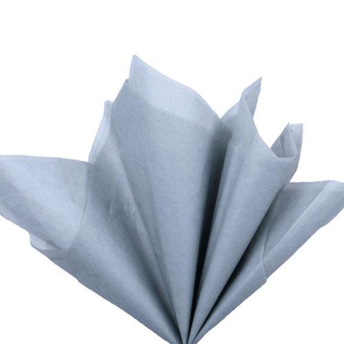 Бумага тишью 76 х 50 см светло-серая 10 листов