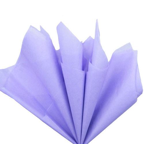 Бумага тишью 76 х 50 см светло-сиреневая 10 листов