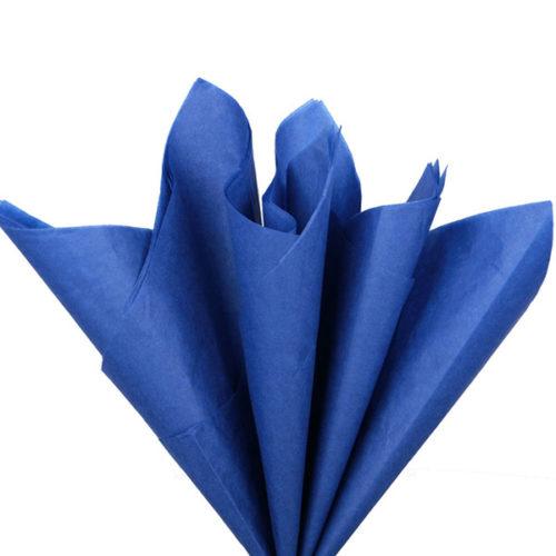 Бумага тишью 76 х 50 см темно-синяя 10 листов