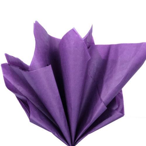 Бумага тишью 76 х 50 см фиолетовая 10 листов