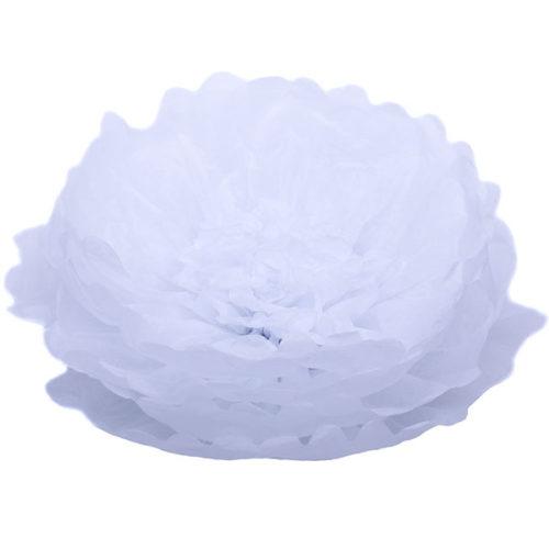 Бумажный цветок 40 см белый + белый
